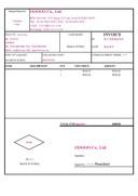 상업송장(Commercial Invoice)(영문)