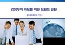 브랜드 경쟁확보를 위한 진단 보고서