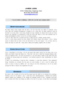 그래픽디자이너 영문 자기소개서(신입)