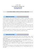 여신 채권 영문 자기소개서(금융)(경력)