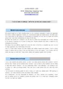 마케팅유통 영문 자기소개서(신입)