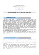 웹큐레이터 영문 자기소개서(신입)