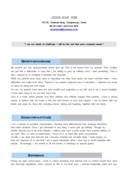 영업관리 영문 자기소개서(의류)(경력)