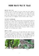 아열대 채소의 특성 및 기능성