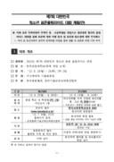 대한민국  청소년 표준올림피아드 대회 계획(안) 양식