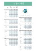 결혼식 예산 관리 계획표
