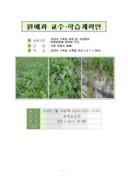 원예과 교수학습 계획안(감자의 수확과 수확물 처리)