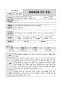 교수학습 계획안(결핵의 날 결핵예방을 위한 청결)