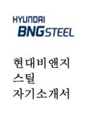 현대BNG 스틸 자기소개서 예문
