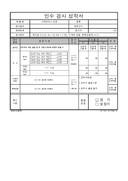 자재관리 공장심사 인수검사성적서