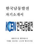 한국남동발전 자기소개서 예문(인턴)