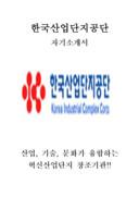 한국산업단지공단 자기소개서 예문(일반행정 인턴 분야)