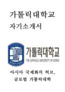 가톨릭대학교 일반직 교직원 자기소개서 예문