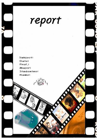 리포트표지(영화 표지)