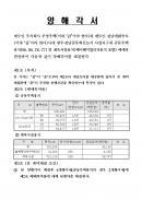 양해각서(개발사업부지 매매예약)
