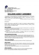 (영문) 해외거래선과의 독점계약서(EXCLUSIVE AGENCY AGREEMENT)