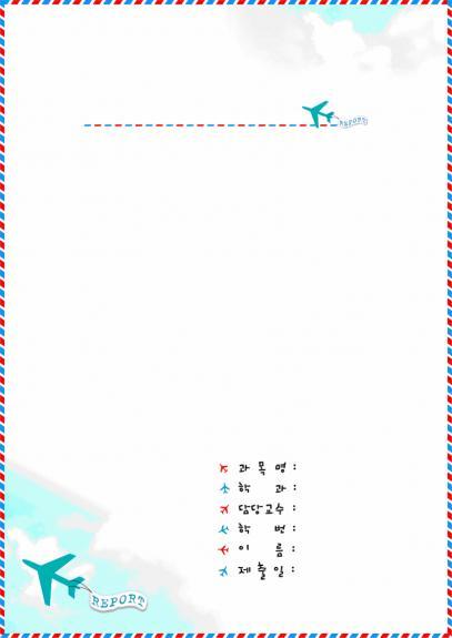 리포트표지(비행기)