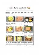 샌드위치 만들기 설명서 (영문)