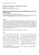 멸종위기종 수원청개구리의 분포현황및 서식지 형태