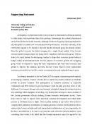 영국 국제학 대학원 지원을 위한 자기소개서 및 학업 계획서 (영문)
