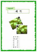 초록나뭇잎 레포트 표지