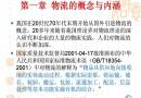 중국 물류관리개요 (중문)